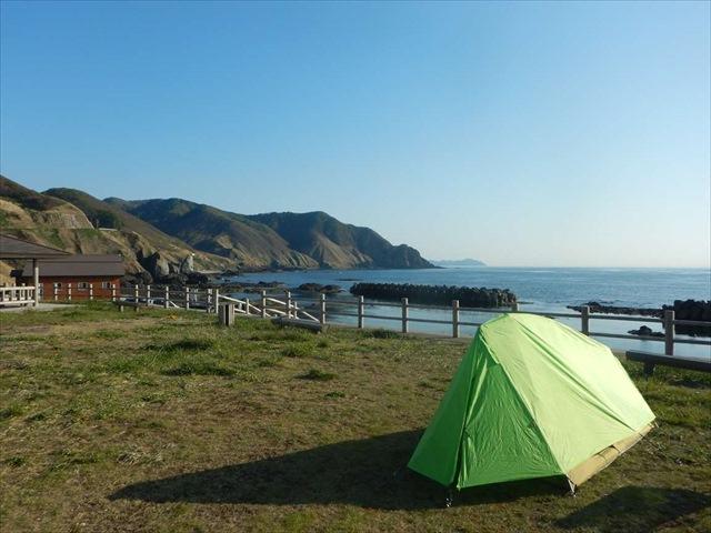 海が見えるキャンプ場